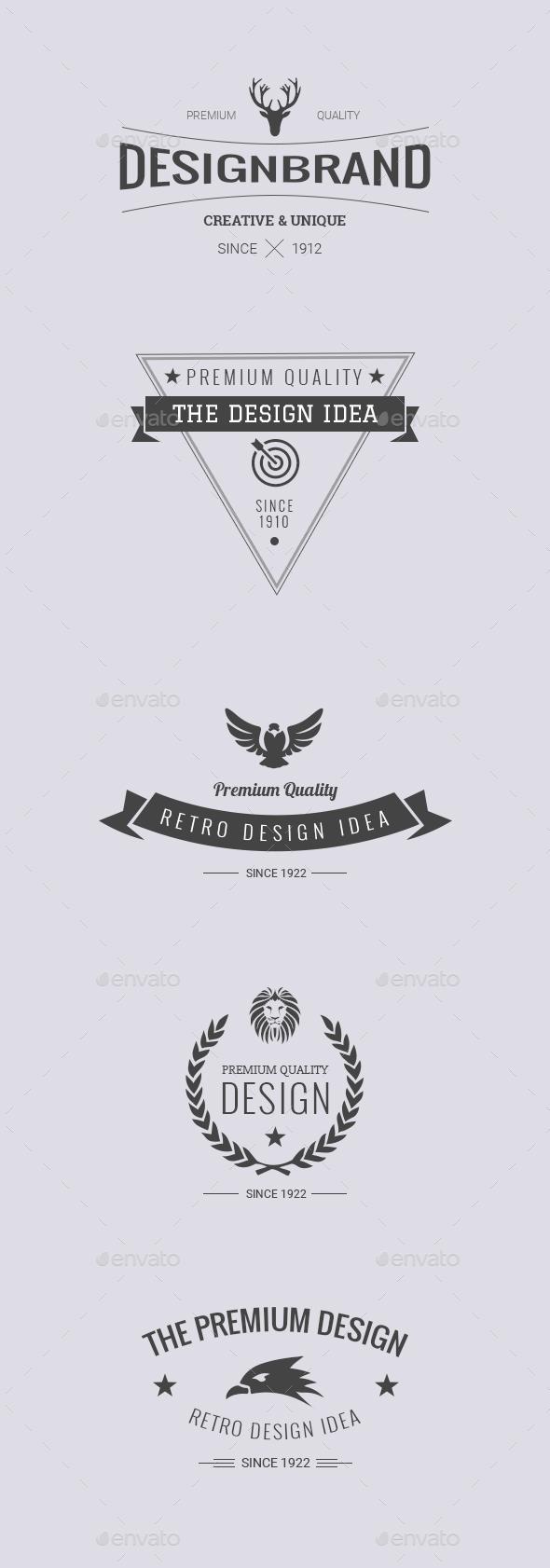 Retro Badge Vol 4 - Badges & Stickers Web Elements