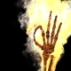 Burning Skeleton OK Sign with Alpha Channel - VideoHive Item for Sale