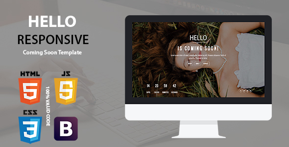 Hello – Responsive Coming Soon Template