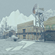 Wild West City In Winter 1 - VideoHive Item for Sale