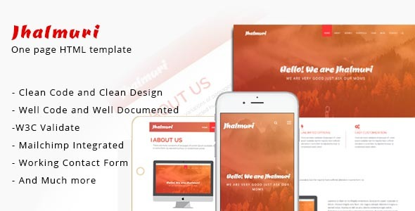 Jhalmuri - One Page HTML template