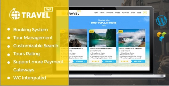 Travelwp – Travel/Tour Booking WordPress Theme