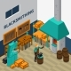 Blacksmith Shop Facility Indoor Isometric Poster
