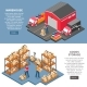 Logistics And Delivery Isometric Banners