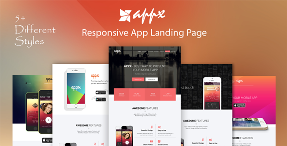 Appx – Responsive App Landing Page