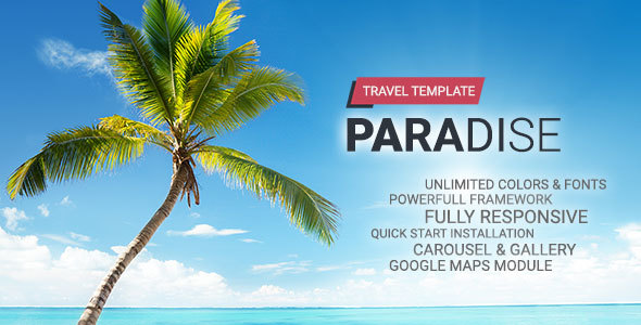 Hot Paradise – Travel Joomla Template