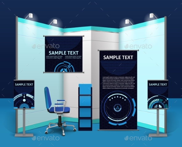 Promotional Exhibition Stand Template - Abstract Conceptual