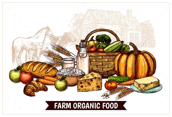 Ecological Farm Poster - Backgrounds Decorative