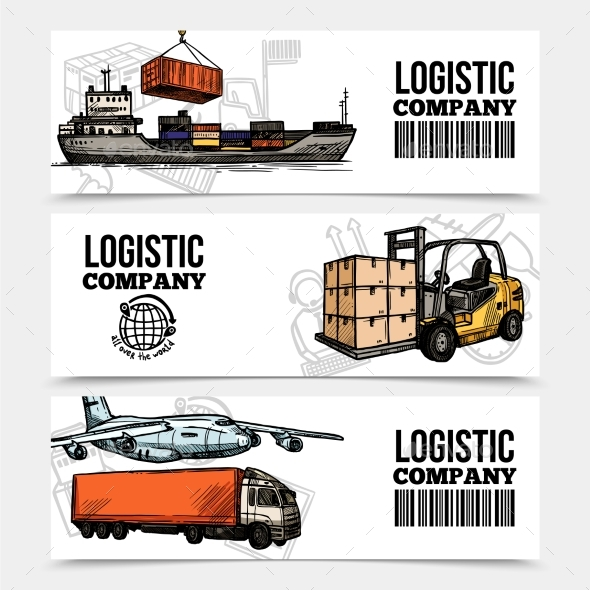 Logistics Horizontal Banners - Abstract Conceptual