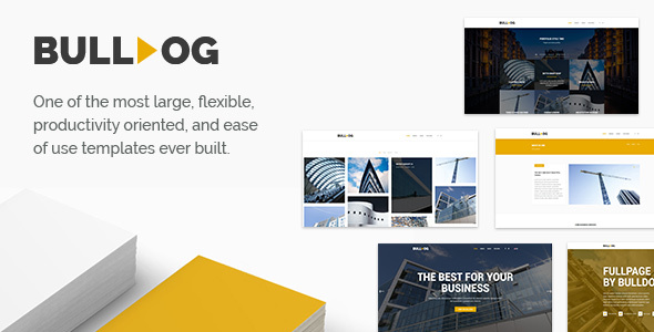 Bulldog – Construction – Architect – Building – Builder Multipurpose Template