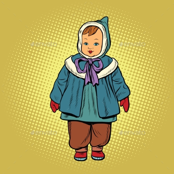 Toddler Retro Clothes Doll - People Characters
