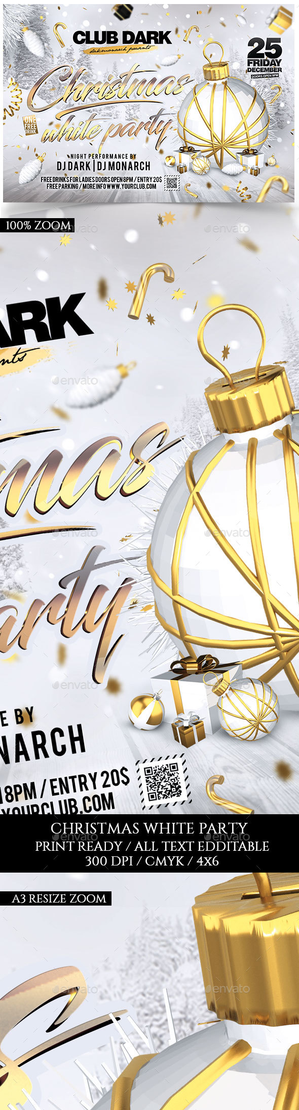 Christmas White Party Flyer - Holidays Events