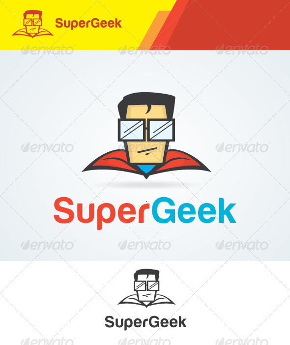 Super Geek Logo - Humans Logo Templates