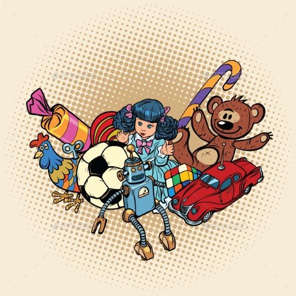 Set of Retro Toys - Miscellaneous Vectors