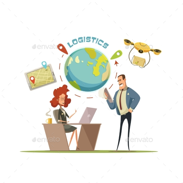 Logistics and Delivery Concept Illustration - Services Commercial / Shopping