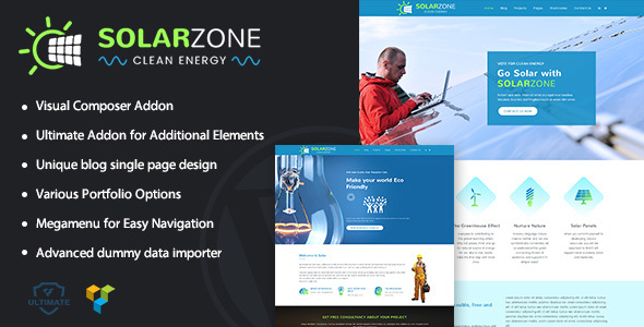 Solar Zone | Clean Energy WordPress Theme