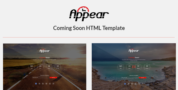 Appear - Coming Soon HTML Template - Under Construction Specialty Pages