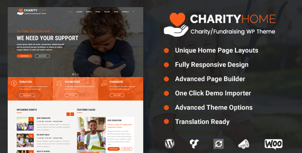 Charity Home – Charity/Fundraising WordPress Theme