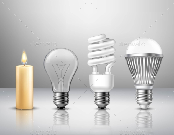 Light Evolution Concept - Man-made Objects Objects