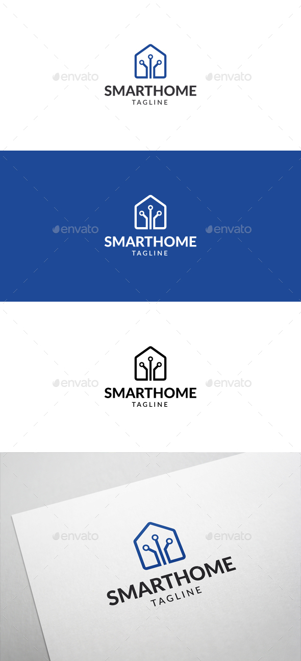 Smart Home Logo - Buildings Logo Templates