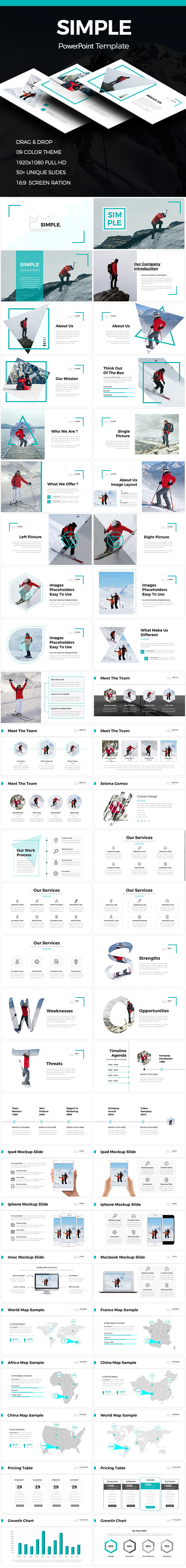 simple - clean powerpoint templatewilliamhenry989 | graphicriver, Modern powerpoint