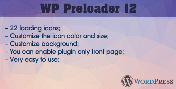 WP Preloader 12 - CodeCanyon Item for Sale