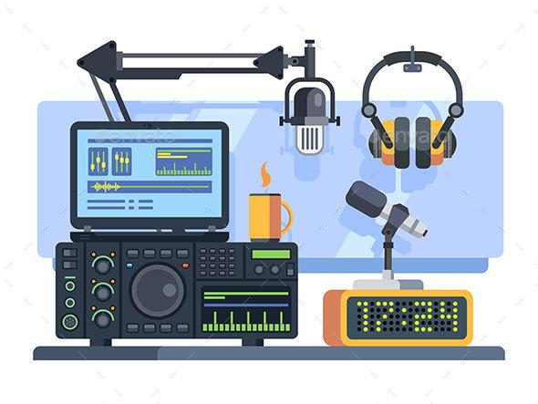 Radio Station Studio - Media Technology