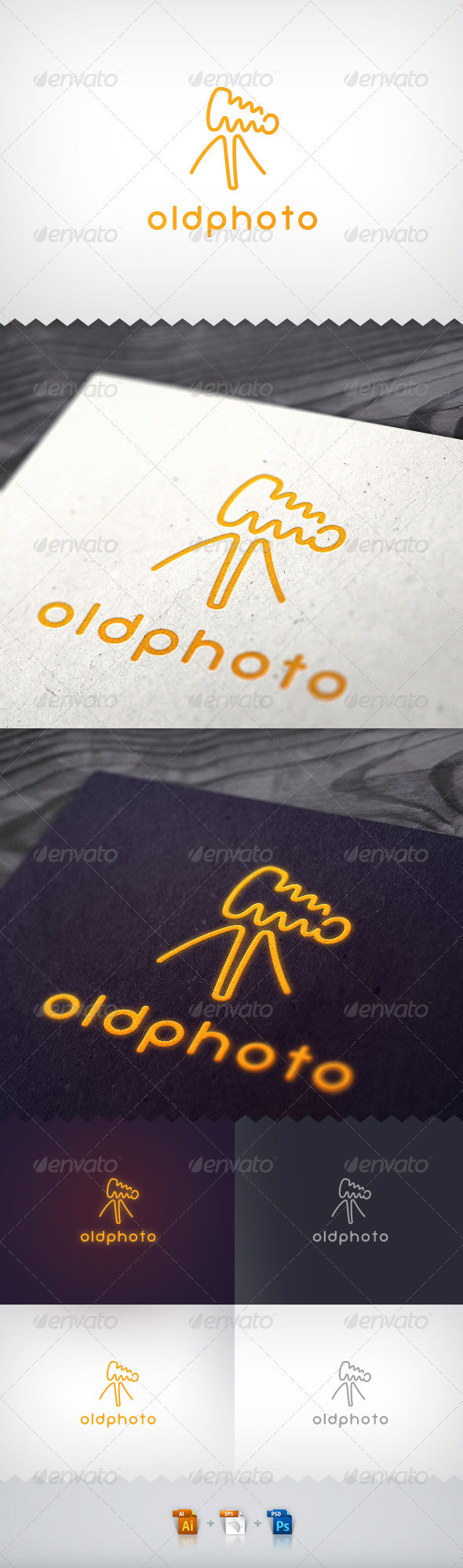 Old Photo Camera Neon Logo - Objects Logo Templates