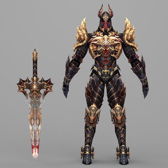 Fantasy Character Hell King - 3DOcean Item for Sale