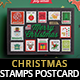 Christmas Stamps Postcard - GraphicRiver Item for Sale