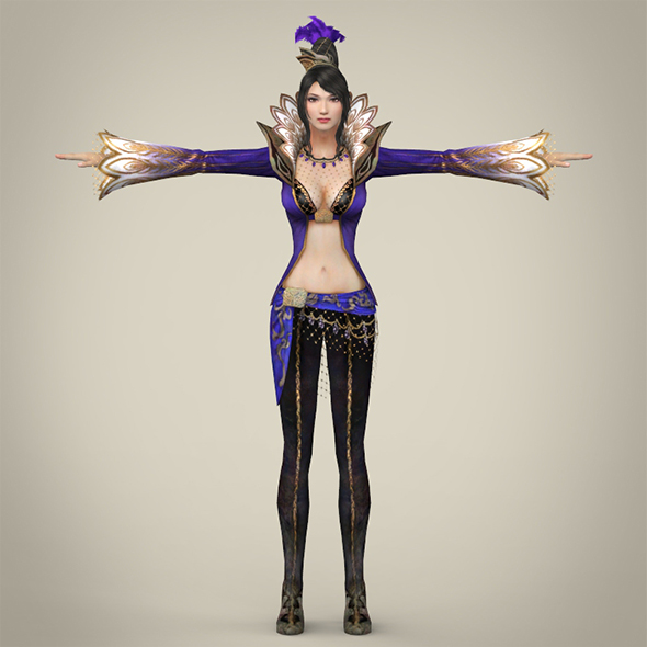 Fantasy Female Queen Punita - 3DOcean Item for Sale
