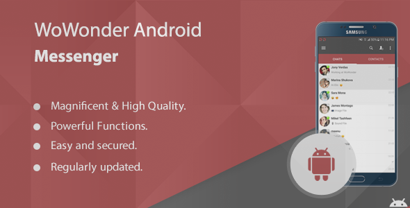 WoWonder Android Messenger - Mobile Application for WoWonder - CodeCanyon Item for Sale