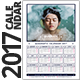 Quadratic 2017 Calendar Template - GraphicRiver Item for Sale