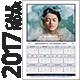 Quadratic 2017 Calendar Template - GraphicRiver Item for Sale
