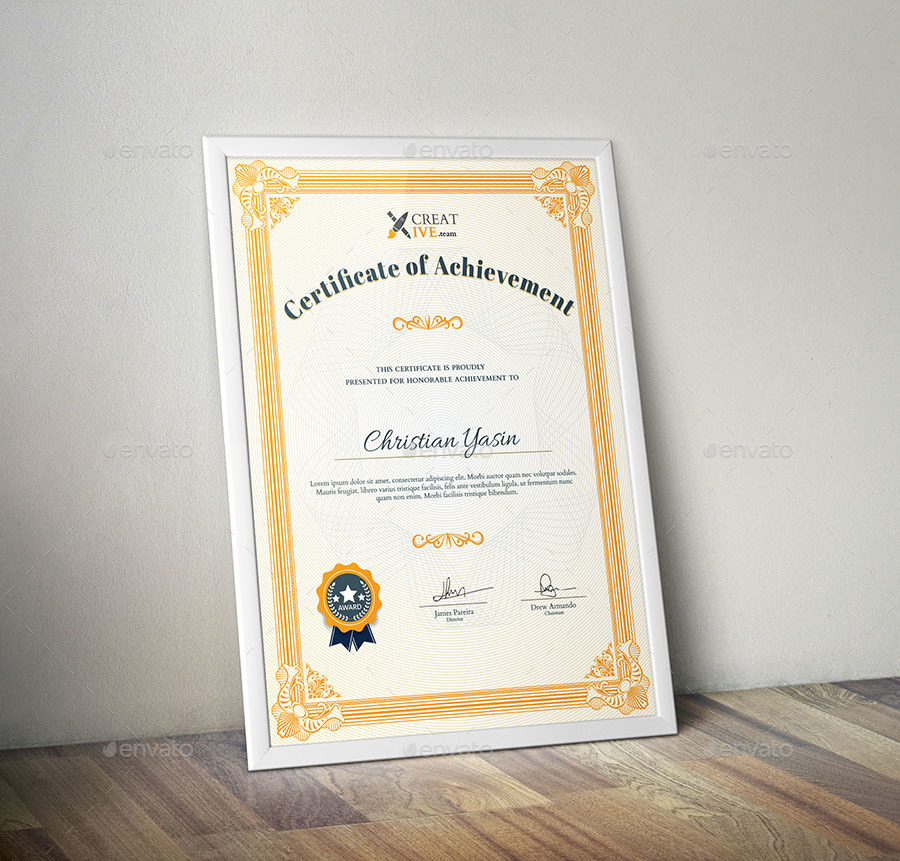 Modern Certificate Template By Artistpro Graphicriver