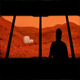 Astronaut Looks Out At Mars Base - VideoHive Item for Sale