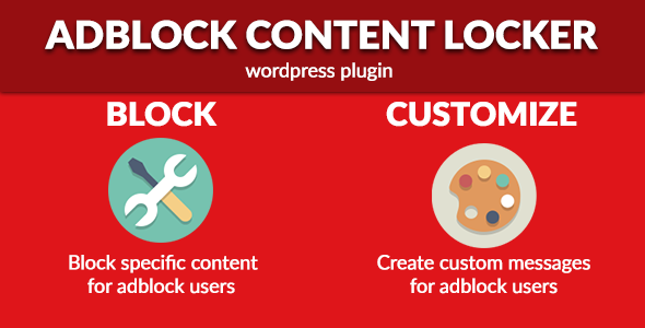 AdBlock Content Locker - Wordpress Plugin - CodeCanyon Item for Sale