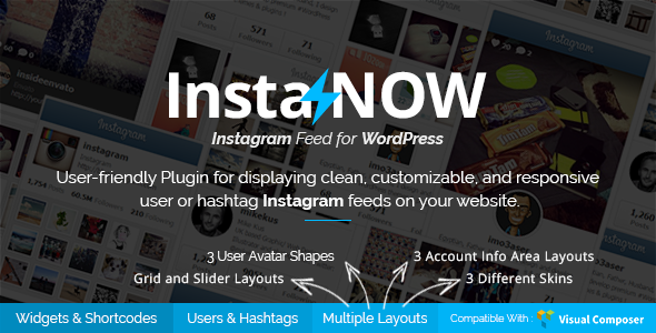 Instagram Feed for WordPress - InstaNOW - CodeCanyon Item for Sale