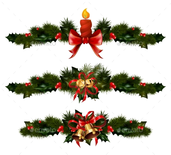 Christmas Decorations with Fir Tree and Decorative - Christmas Seasons/Holidays