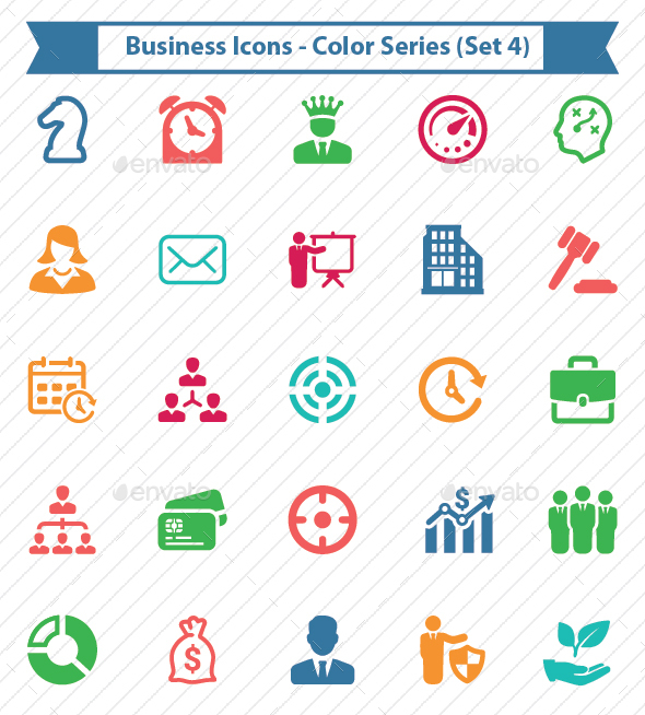 Business Icons - Color Series (Set 4) - Business Icons