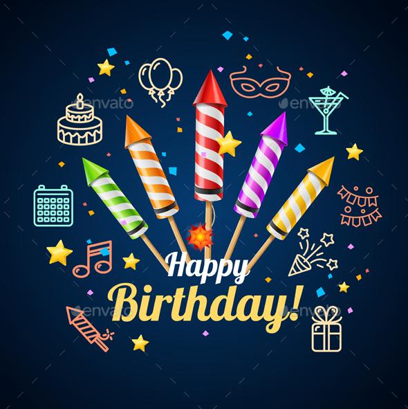 Party Invitation Birthday Card - Birthdays Seasons/Holidays