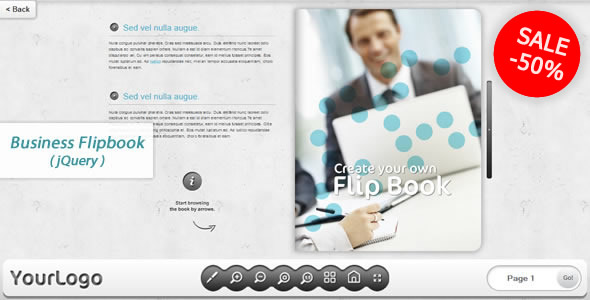 Business FlipBook jQuery Plugin - CodeCanyon Item for Sale