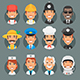 Characters People Different Professions in Circle - GraphicRiver Item for Sale