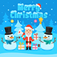 Illustration Santa Claus and Snowman in Forest - GraphicRiver Item for Sale