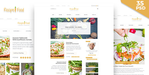 Recipe food psd template by blogfair themeforest themepreview00preview imageg forumfinder Image collections
