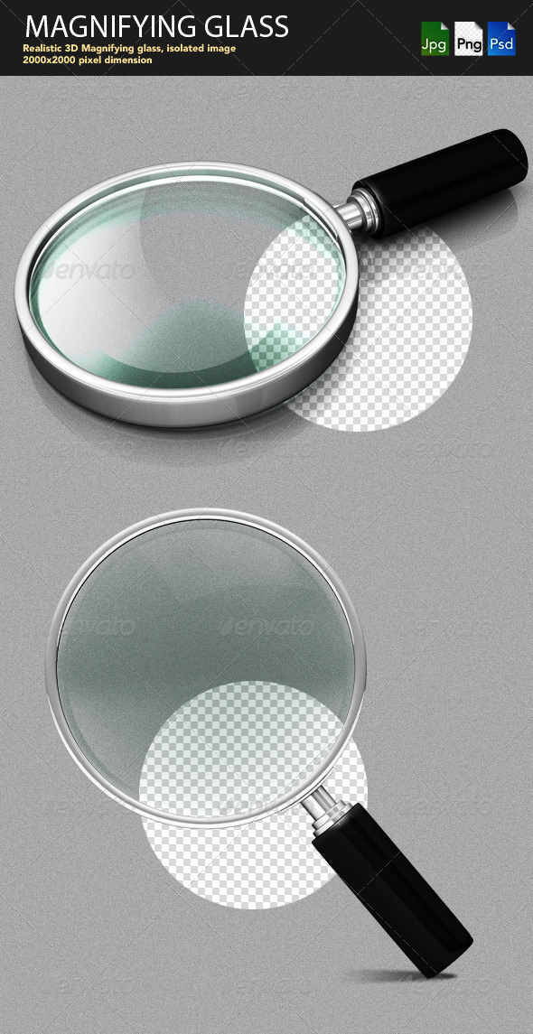 Magnifying Glass - Objects 3D Renders