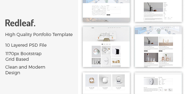 Redleaf – Minimal Portfolio PSD Template