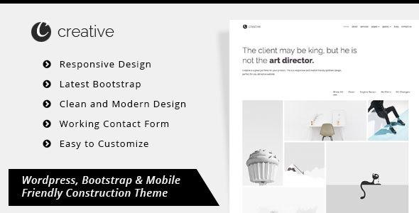 Creative Portfolio – Minimal Portfolio WordPress Theme