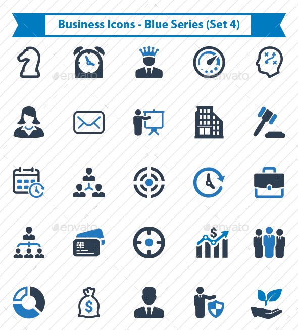 Business Icons - Blue Series (Set 4) - Business Icons