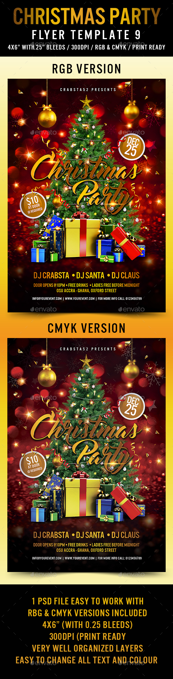 Christmas Party Flyer Template 9 - Holidays Events